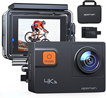 Apeman A80 Action Camera with 19 Accessories and Carrying Case