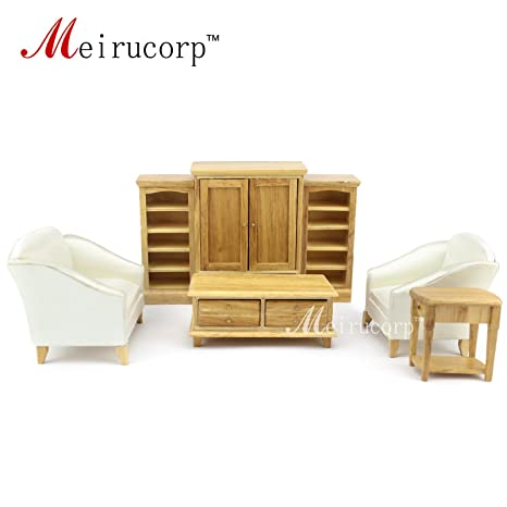 Magnificent Dollhouse 1 12 Scale Miniature Furniture Wooden Hand Living Room 7 Pcs Set Sofa Table Cabinet Download Free Architecture Designs Scobabritishbridgeorg