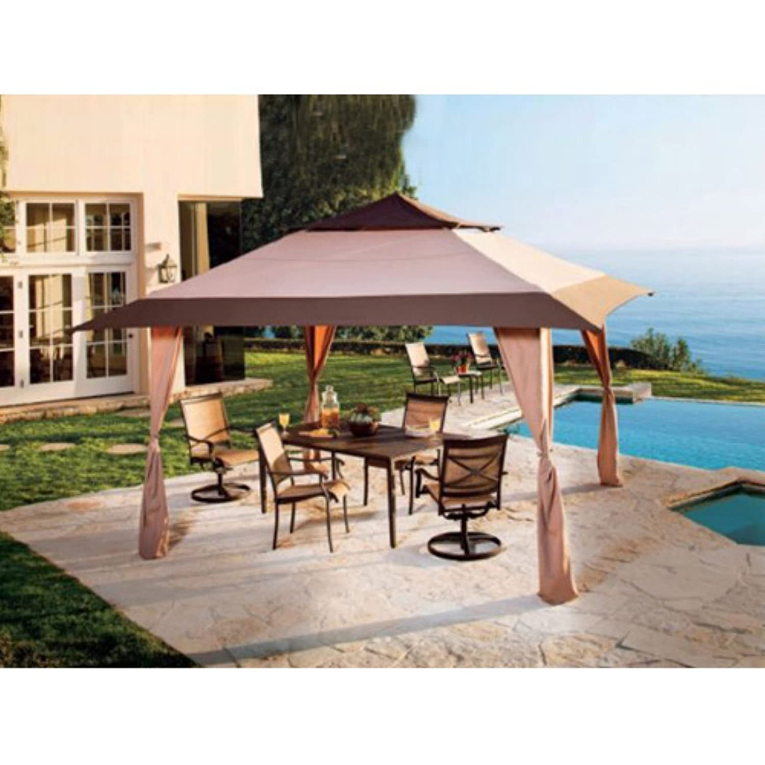 Amazon.com  E-Z Up 13 x 13 Pagoda Gazebo Canopy  Outdoor Canopies  Garden u0026 Outdoor  sc 1 st  Amazon.com & Amazon.com : E-Z Up 13 x 13 Pagoda Gazebo Canopy : Outdoor ...