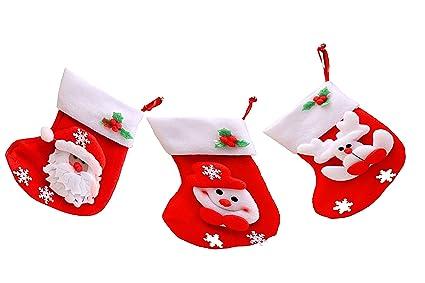 Mini (3 unidades, incluye medias calcetines de diseño de patrón de Navidad, Papá