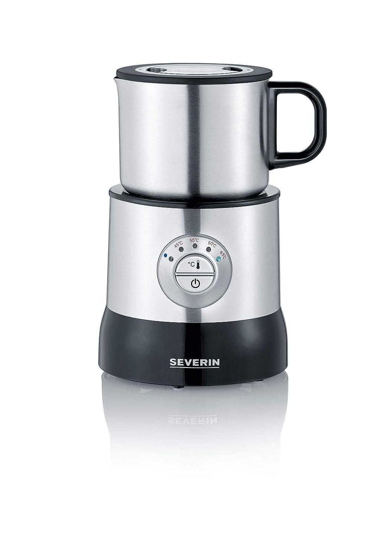 Emulsionador Calentador Acero inoxidable//Negro Inducci/ón hasta 350 ml hasta 700 ml SEVERIN SM 3583 Emulsionador de Leche