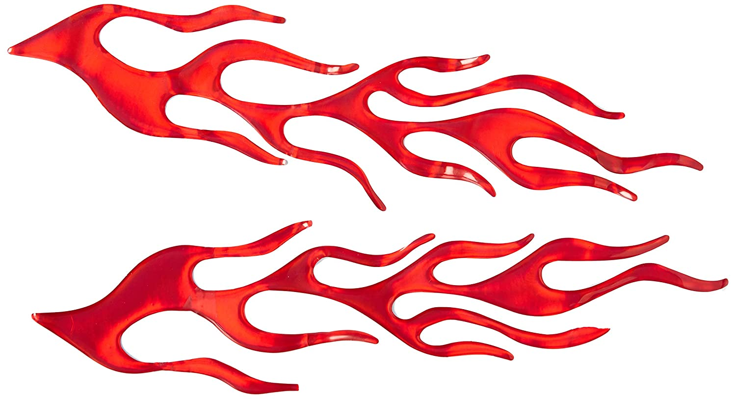 Uxcell a11101100ux0116 2 in 1 Auto Car Red Plastic Flame Shaped Reflective Stickers Unknown