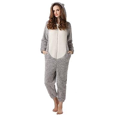 87aeffcfc88 Richie House Women s Warm Fleece Jumpsuit Robe RHW2316-A-UNI Size ...
