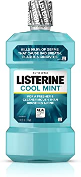 3-Pack Listerine 1 Ltr Cool Mint Antiseptic Mouthwash for Bad Breath