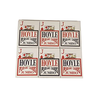 Hoyle Jumbo Index Playing Cards - 6 Sealed Decks (3 Red and 3 Blue): Toys & Games