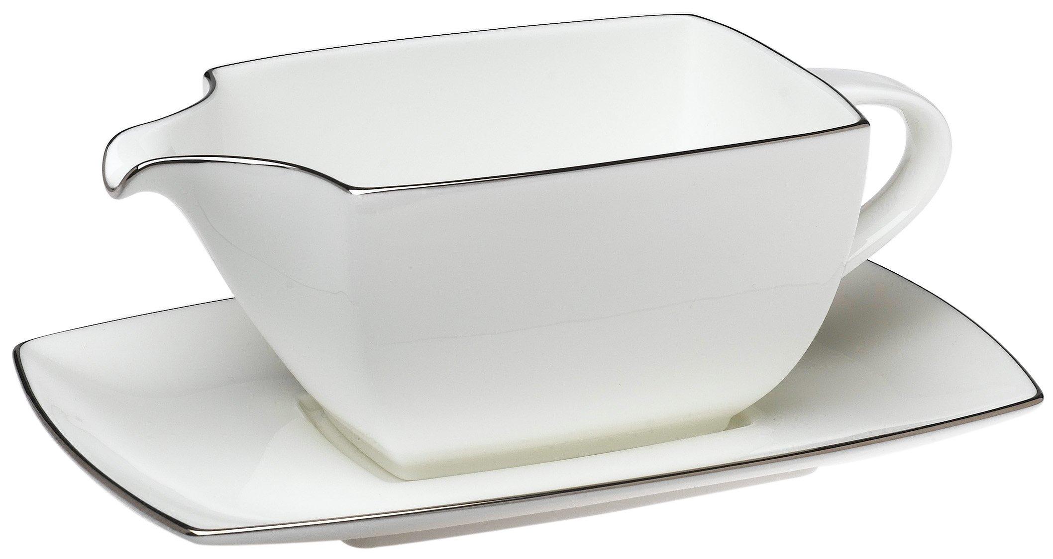 Mikasa Couture Platinum 2-Piece Gravy Boat Set
