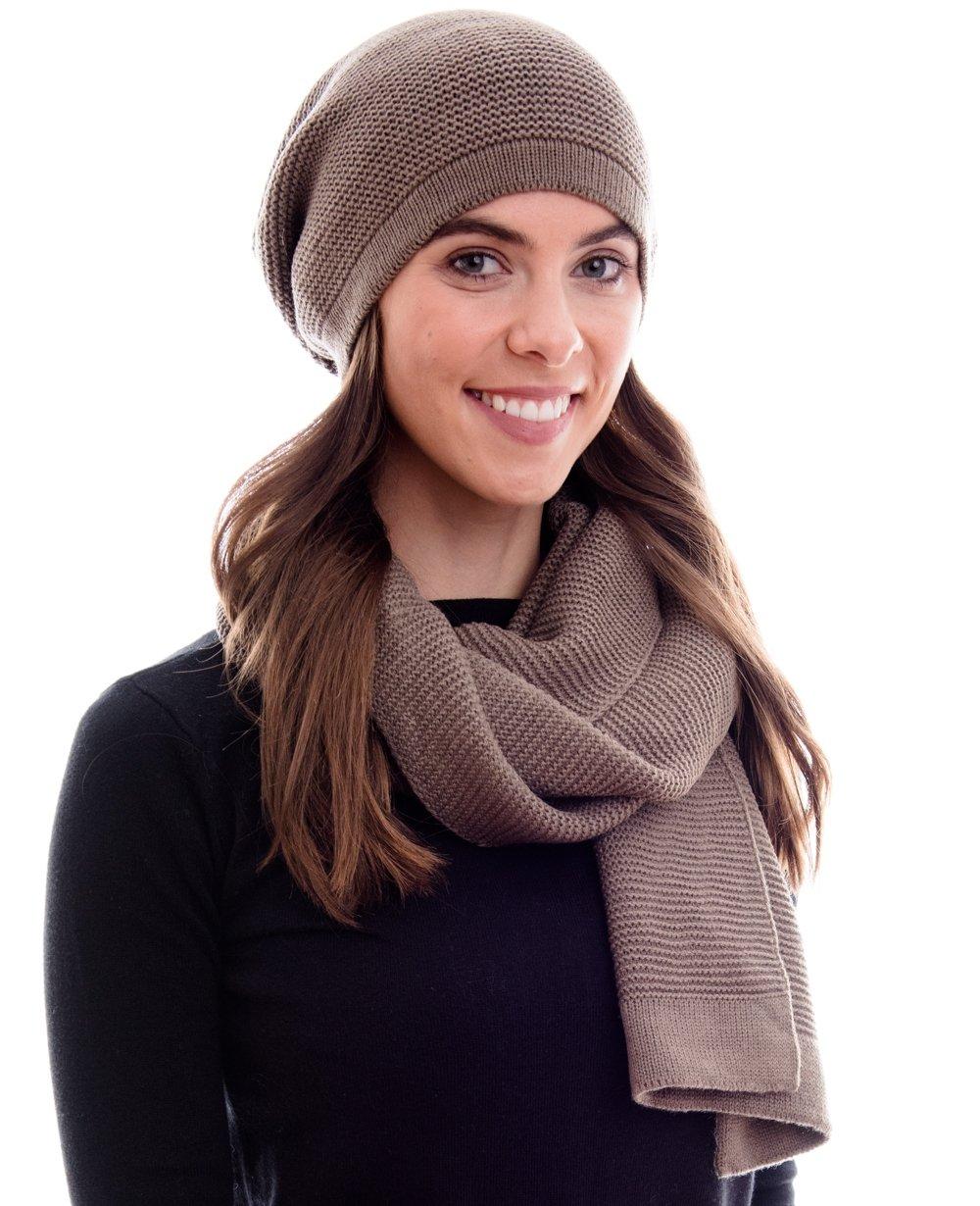 3a811dac66552 Hilltop Products Ensemble combiné d'hiver écharpe et bonnet en ...