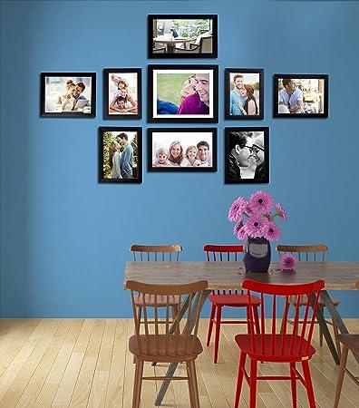 abba35c3aa Buy Art Street - Set of 9 Individual Black Wall Photo Frames Wall Hanging  (Mix Size)(3 Units 5x7