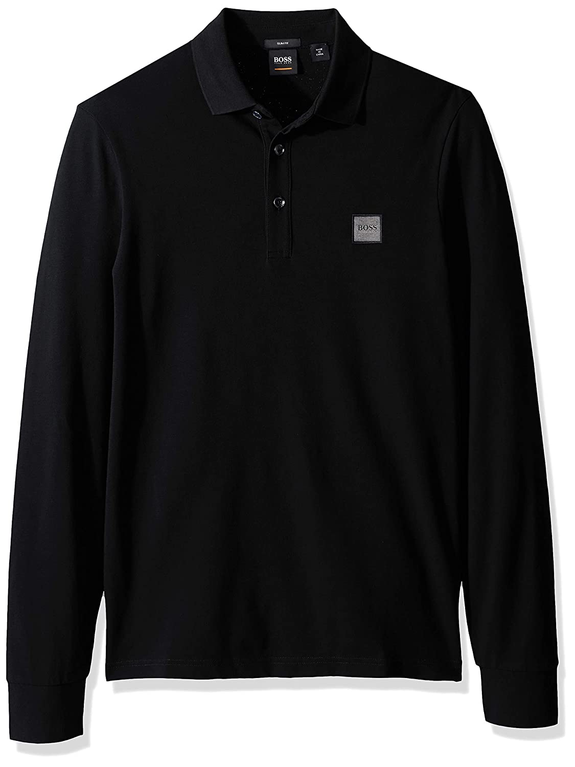 Hugo Boss Mens Passerby Long Sleeve Polo with Chest Logo Patch