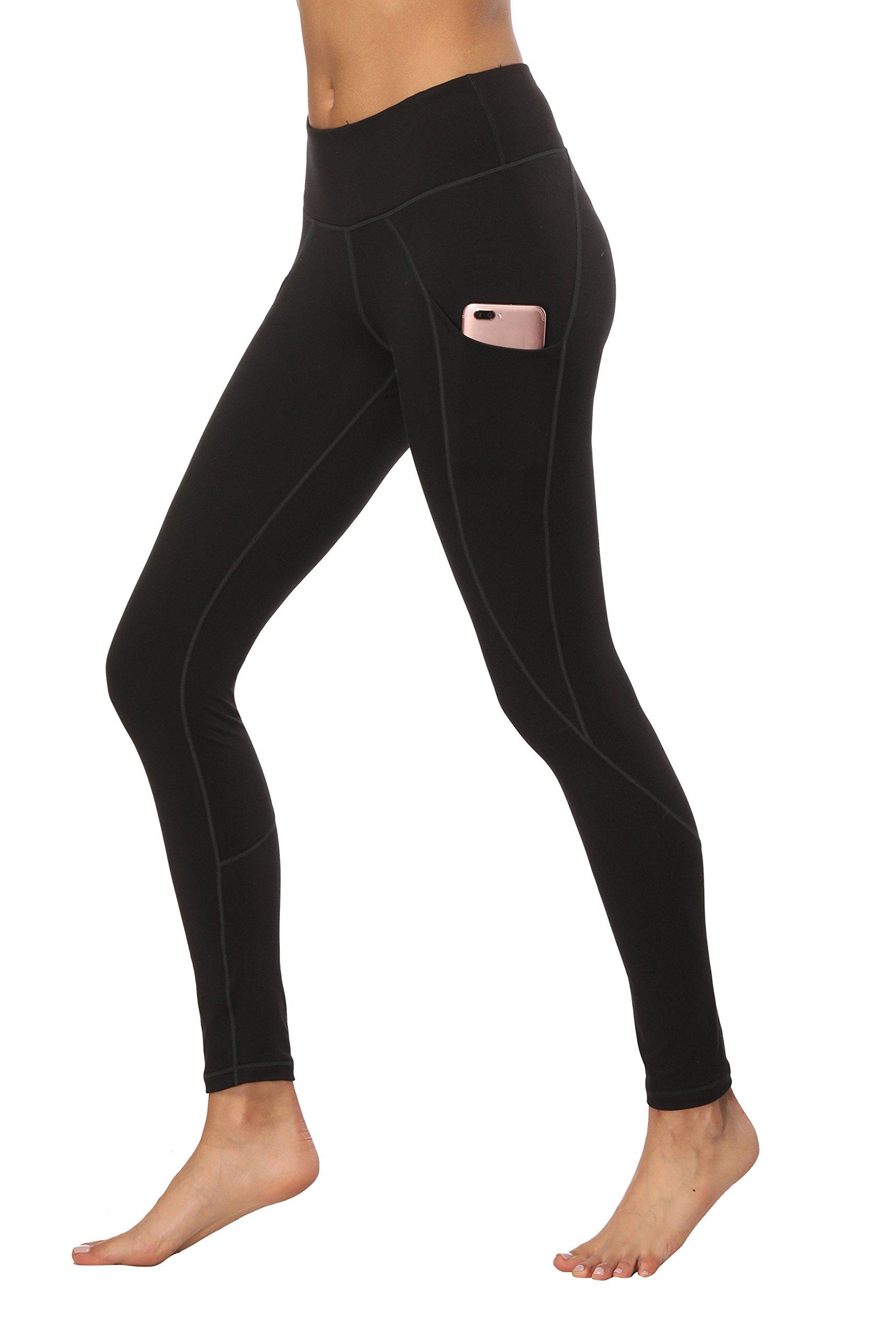 HKJIEVSHOP Yoga Pants with Pockets, High Waist Yoga Pants Tummy Control Workout Running 4 Way Stretch Pocket Leggings