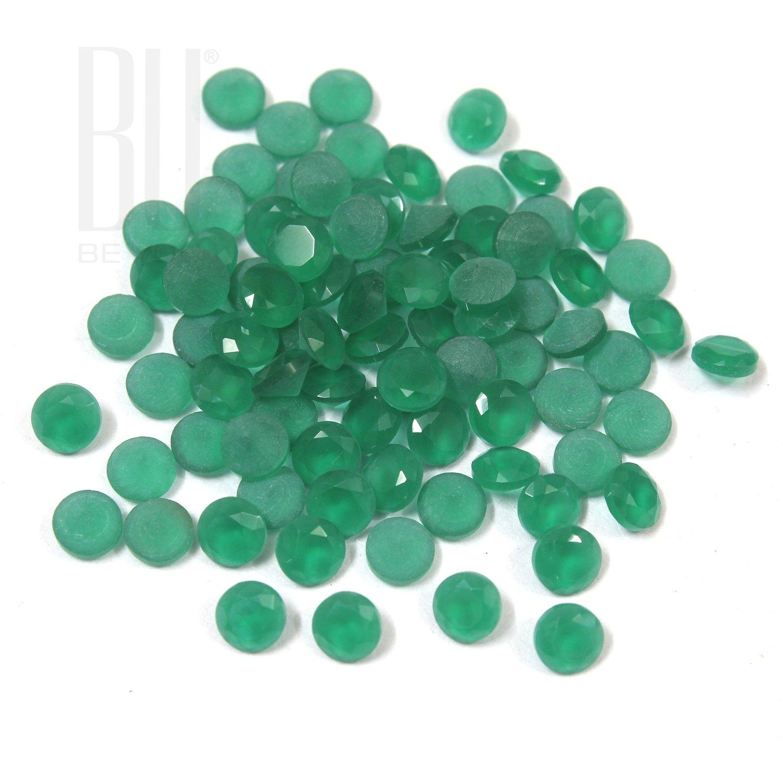 Be You Green Colour Crystal Glass AA Quality 10 mm Diamond Cut Round Shape 500 pcs loose gemstone