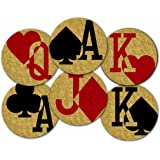 Corkology Gamblers Charms Coaster Set, Cork