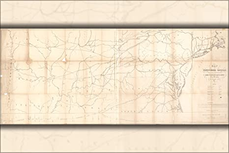 Amazon.com : 16x24 Poster; Map Of Pennsylvania Railroad; Ohio ... on map of state of pennslyvannia, map of michigan and new york, map of northern va and pennsylvania, map of lakes in ohio, gold deposit maps pennsylvania, map of new york and washington dc, p of pennsylvania, map of eastern ohio, map of philadelphia and pennsylvania, printable map of south west pennsylvania, map michigan and pennsylvania, state land map of pennsylvania, map of ohio outline, mid west city map pennsylvania, map of ohio in 1830, map of connecticut and pennsylvania, pa road maps pennsylvania, map of indian villages in ohio, map of florida and pennsylvania, west virginia county map pennsylvania,