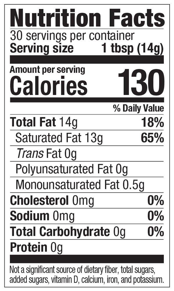 Amazon Brand - Happy Belly Organic Virgin Coconut Oil, Unrefined, Non-GMO, 15 Fl Oz