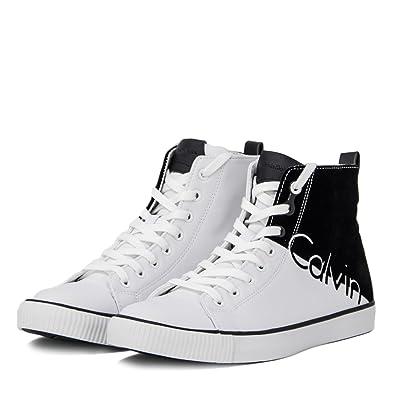 best sneakers 96caa 95327 Calvin Klein Jeans Herren Schuhe AJAX Nylon Flocking S0495 ...