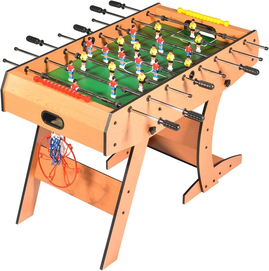 Mesa 3 juegos en 1 plegable Futbolín- Basquetbol - Dardos, 122 x ...