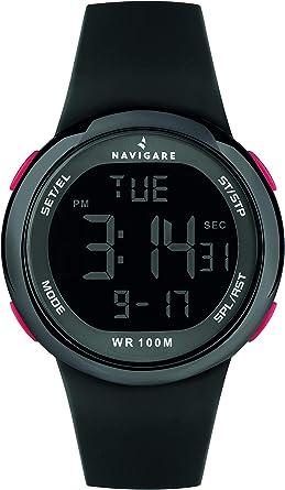 Reloj Navigare Bali NA243 para hombre, movimiento digital, sumergible (negro): Amazon.es: Relojes