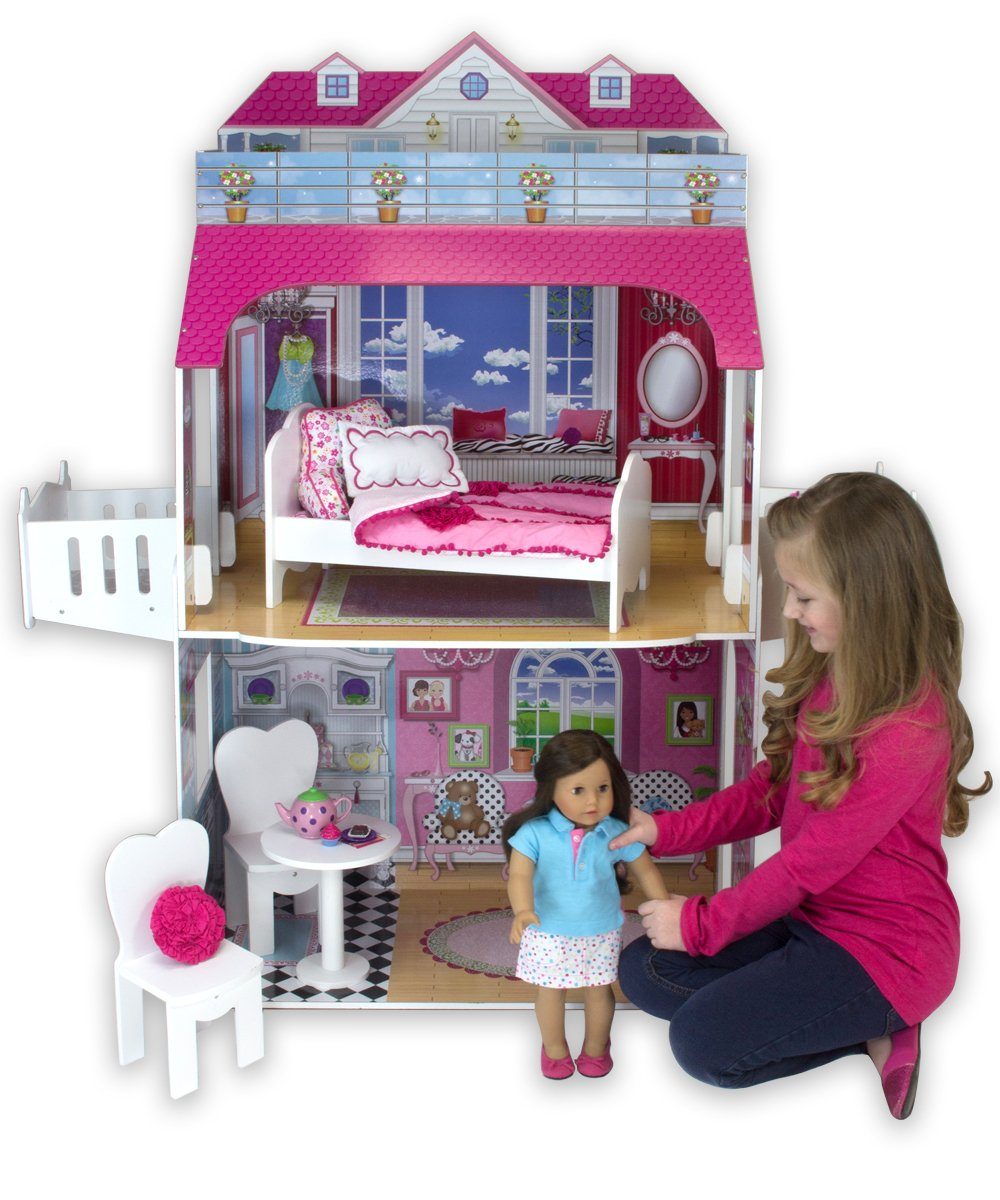 Sophias Doll House With Balcony Two Story 18 Inch