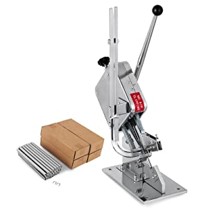 Happybuy U-shape Sausage Clipper Clipping Machine Manual Food Clipping Maker Tying Packer Packing Machine Commercial Use with Two Boxes Clips