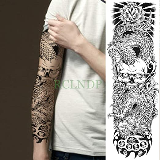 3 Piezas Impermeable Tatuaje Pegatina Brazo Reloj Letra Flor Vieja ...