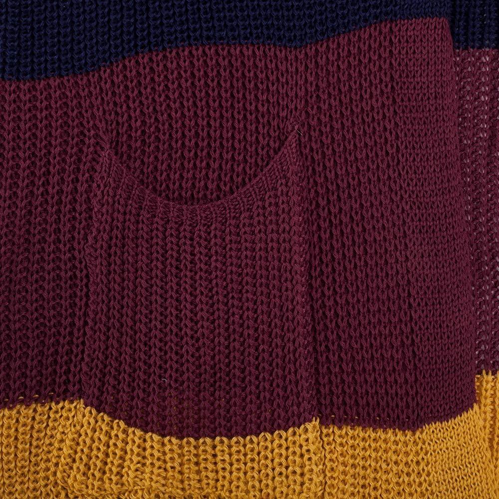BUOYDM C/árdigans para Mujer Ropa de Punto Manga Largos Abrigos de Oto/ño Invierno Patr/ón de Franja de Color