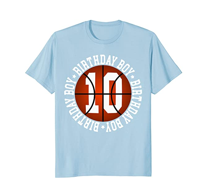 Mens 10th Birthday Boy Basketball T Shirt 10 Year Old Baller 2XL Baby Blue