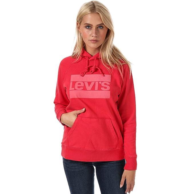 Levis - Sudadera con Capucha - para Mujer Rojo Rosso 32
