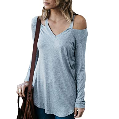 0399ac1cba Amazon.com  Amaryllis Apparel Women s Bold Shoulder Cutout Top