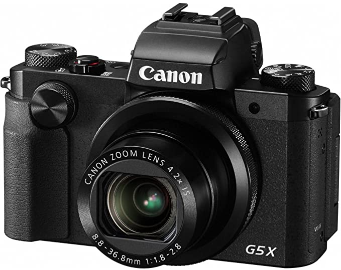 Canon Powershot G5 X Digital Camera | 20.2 MP, 4.2X Optical Zoom | Black Color Point & Shoot Digital Cameras at amazon