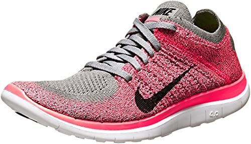 nikefree 4.0 flyknit – chaussures de course Femme Gris  TXQKB