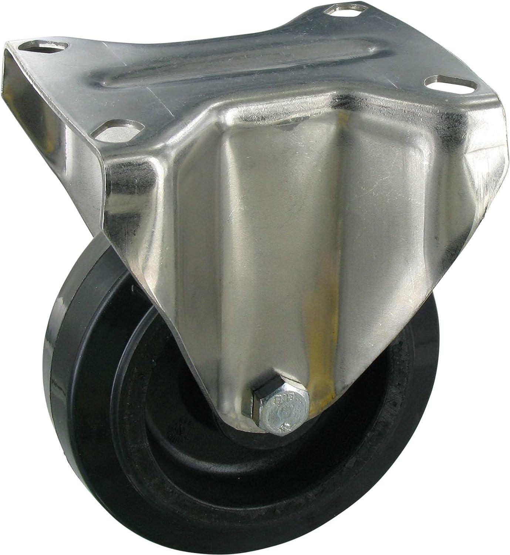 Ruedas giratorias 4 unidades, 60 mm de di/ámetro, con placa atornillable, goma
