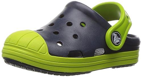 crocs Bump It K Clog, Navy/Volt Green