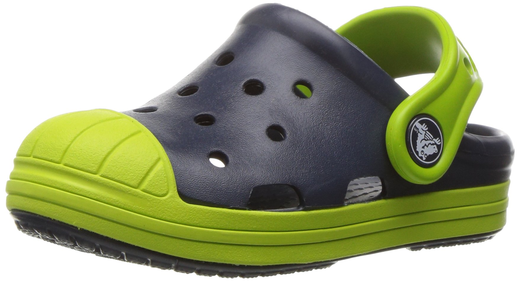 Crocs Kids' Bump It K Clog, Navy/Volt Green, 3 M US Little Kid