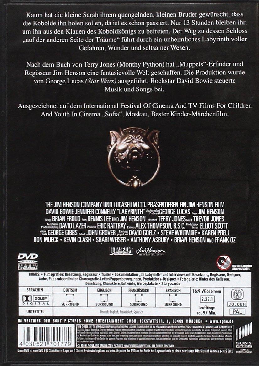Die Reise ins Labyrinth [Alemania] [DVD]: Amazon.es: Jennifer ...