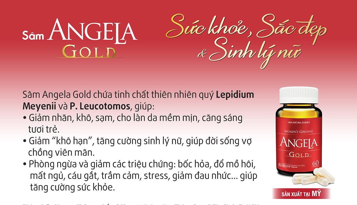 08 boxes * 60 Capsule ANGELA GOLD Ginseng - Women Estrogen, Progesterone, Testosterone - Sexual Health by ANGELA GOLD Ginseng (Image #1)