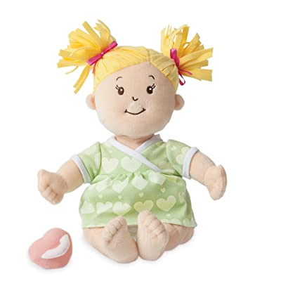 "Manhattan Toy Baby Stella Blonde Soft First Baby Doll for Ages 1 Year and Up, 15"": Toys & Games"