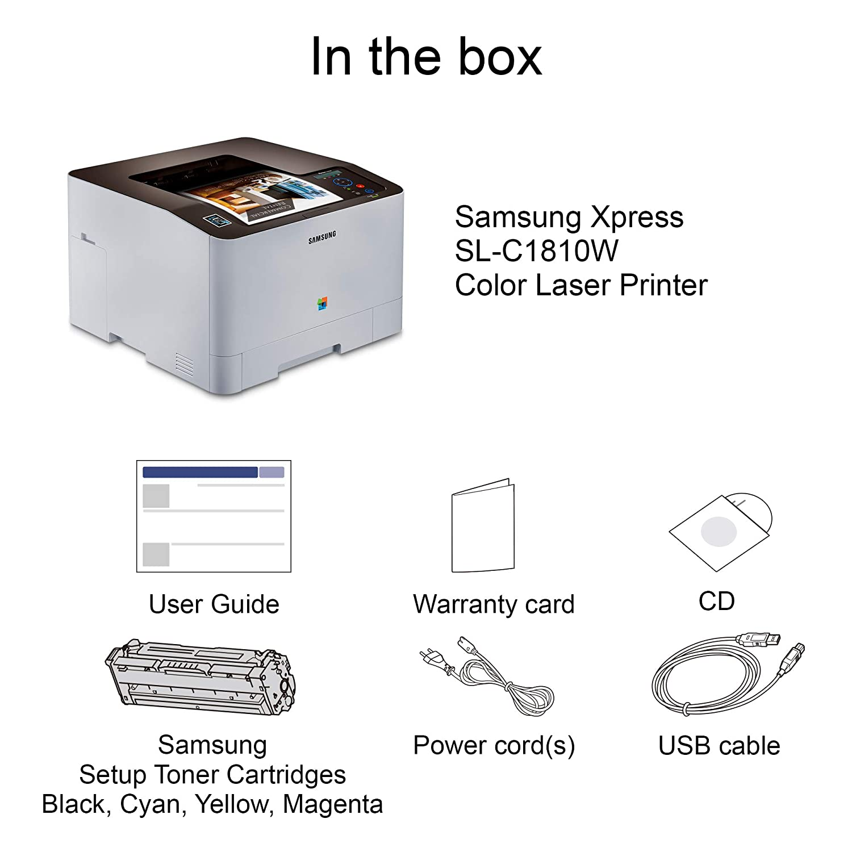 HP Samsung Xpress SL-C1810W CLR - Impresora láser: Amazon.es ...