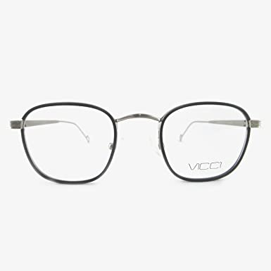 b2818a4ccfc Image Unavailable. Image not available for. Color  VICCI Unisex Optical  Eyewear Glasses Non-Prescription Frame Metal Quality Designer Optics  Eyeglasses ...