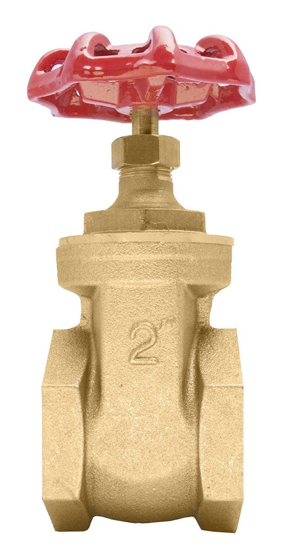 """2"""" Brass Gate Valve - 200WOG, FxF NPT"""