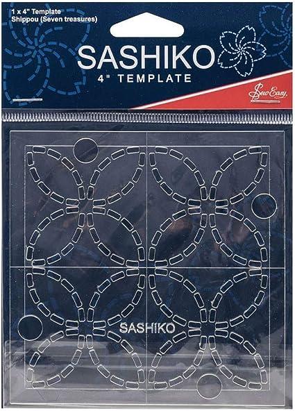 "Sew Easy Sashiko Embroidery Complete 4/"" Template Set"