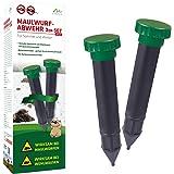 Gardigo Stop la Taupe à vibrations - Set de 2 pièces | Répulsif anti-taupes, campagnols, nuisibles - étanche