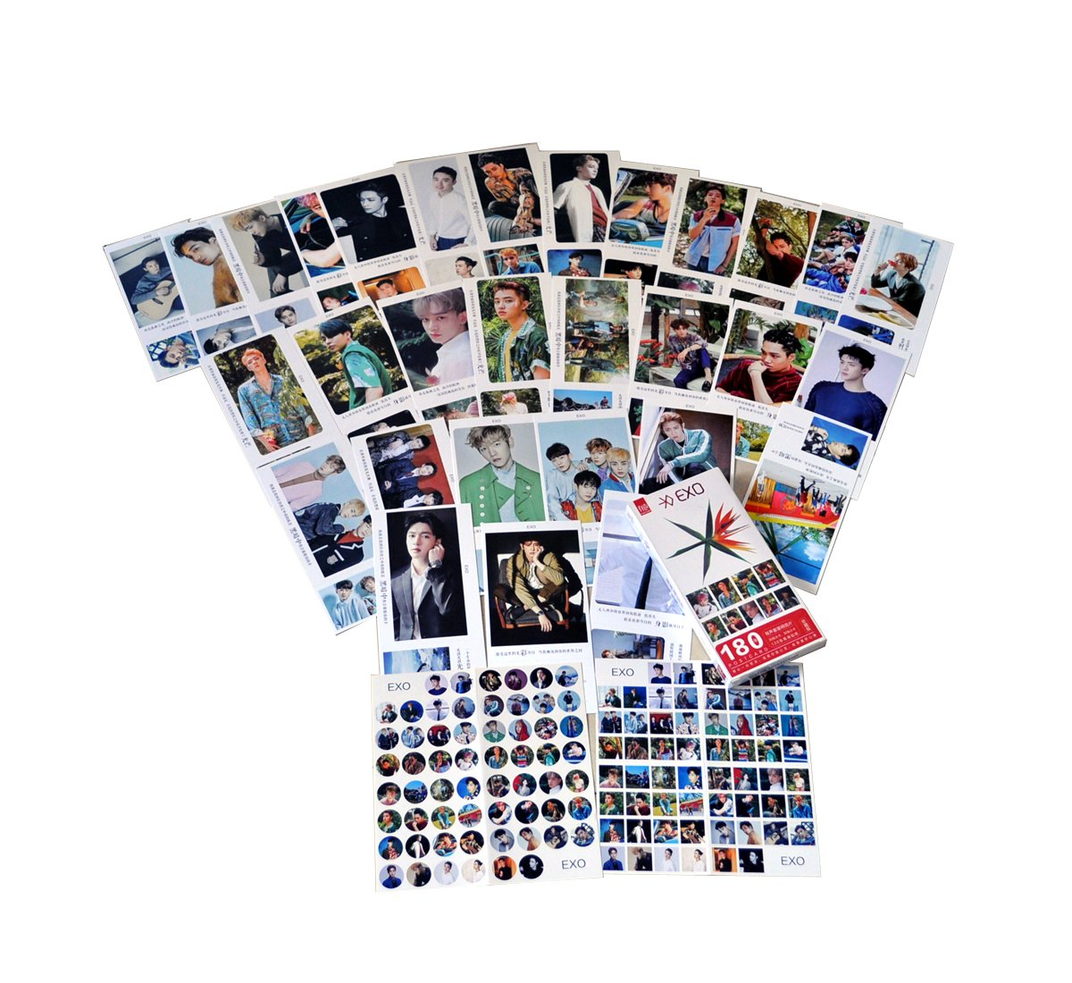KingYang KPOP EXO postcard with lomo cards (EXO-THE WAR)