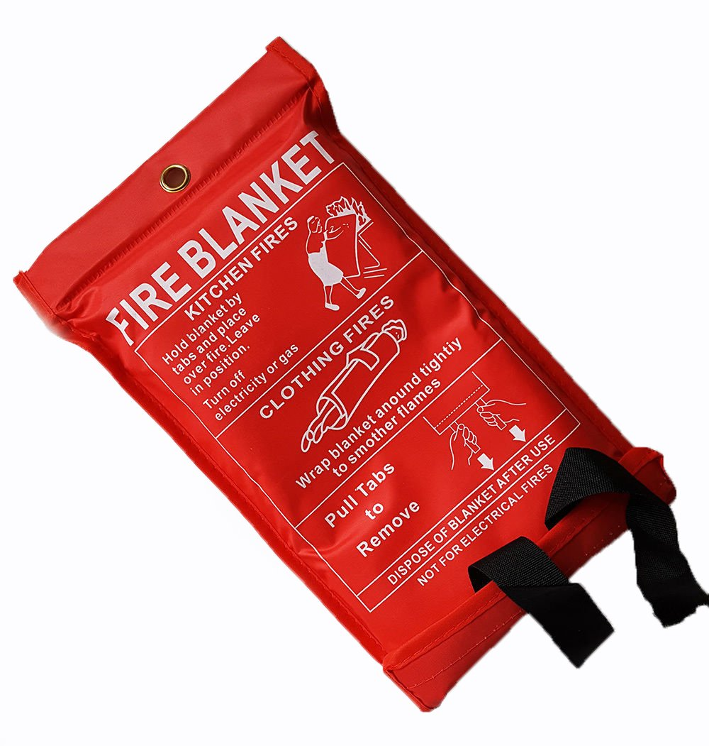 Fire Blanket 1m x 1m by TopChef ms 41142c