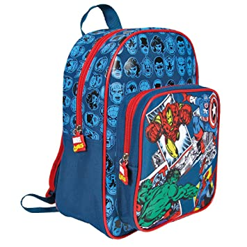 83cfa91153d0 Marvel Comics Backpack for Kids - Avengers School Bag with Front Pocket  with Captain America