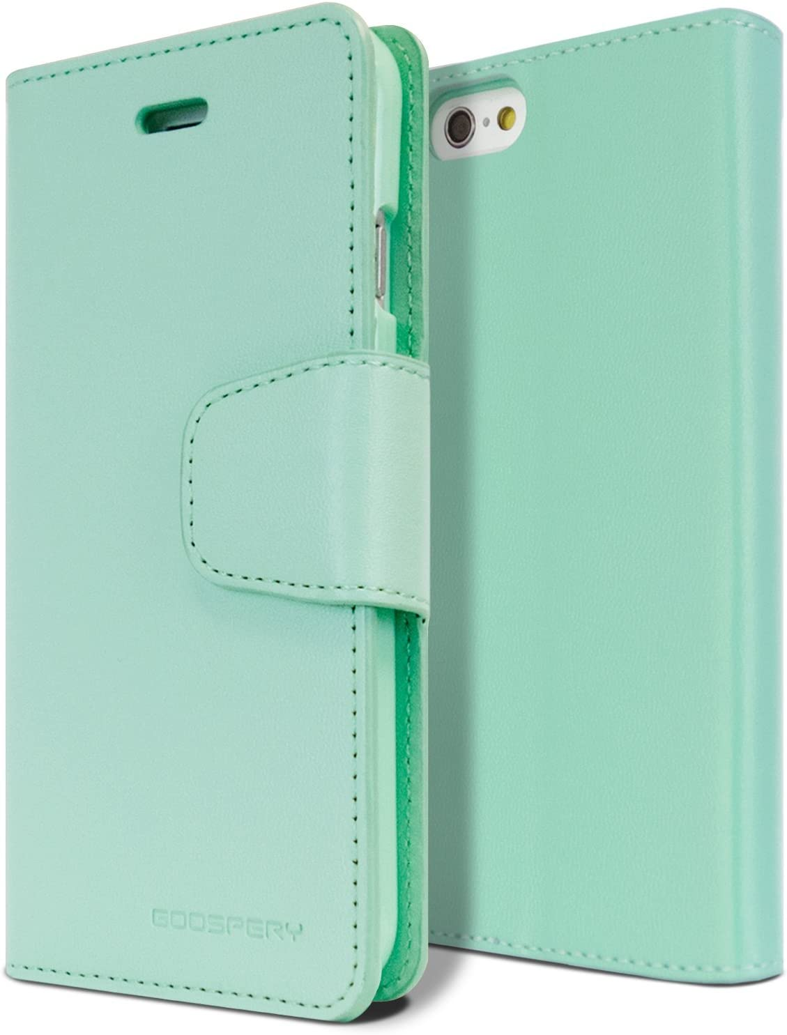 Goospery Sonata Wallet for Apple iPhone 6S Plus Case (2015) iPhone 6 Plus Case (2014) Leather Stand Flip Cover (Mint) IP6P-SON-MNT