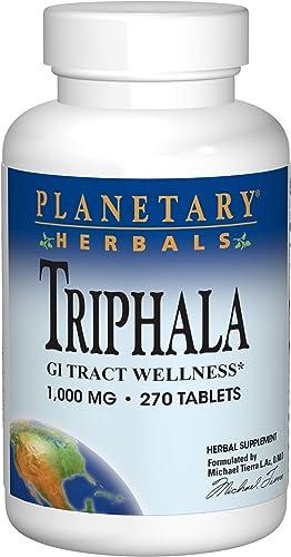 Planetary Herbals Triphala 1000mg – 270 Tablets