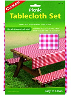 Coghlans Picnic Table Set With Tablecloth And Bench Covers