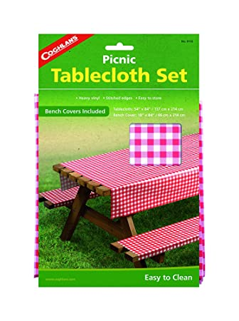 Lovely Coghlanu0027s Picnic Table Set With Tablecloth And Bench Covers