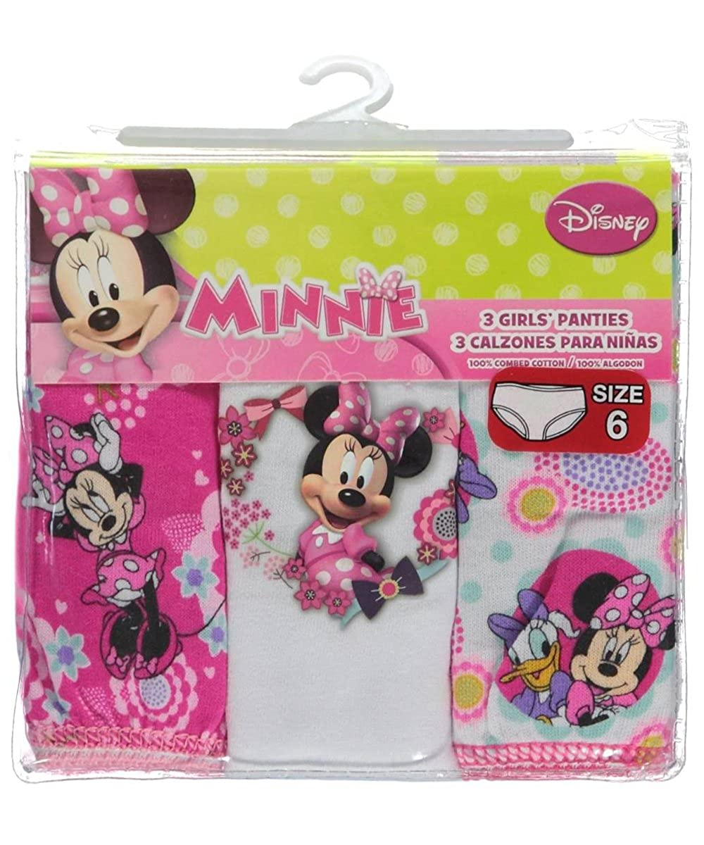 Minnie Mouse Panties Disney Girls 2T /& 4T Pink Multi 3-pk
