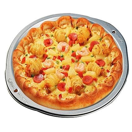 Bandeja de pizza Bandejas para Horno Plato Molde para Pizza Bandeja para Hornear Redonda Herramientas para